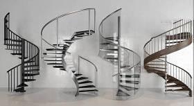 现代旋转楼梯组合3D模型下载 现代旋转楼梯组合3D模型下载
