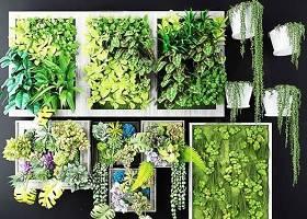 现代多肉绿植画框植物墙3D模型下载 现代多肉绿植画框植物墙3D模型下载