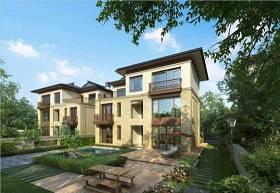 新中式別墅外觀3D模型下載 新中式別墅外觀3D模型下載