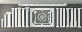 歐式石膏羅馬柱雕花柱頭組合3D模型下載 歐式石膏羅馬柱雕花柱頭組合3D模型下載