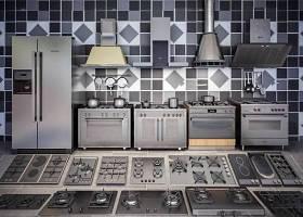 現代廚房電器 灶臺油煙機冰箱組合3D模型下載 現代廚房電器 灶臺油煙機冰箱組合3D模型下載
