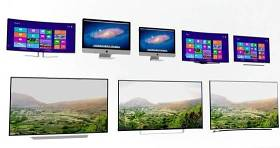 显示器电视组合3D模型下载 显示器电视组合3D模型下载