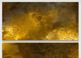 金属溶液流动颜料油彩晕染大理石纹理...