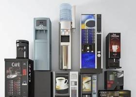 現代咖啡自助機飲水機組合3D模型下載 現代咖啡自助機飲水機組合3D模型下載