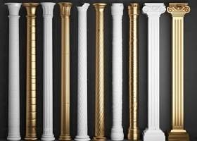 歐式石膏羅馬柱組合3D模型下載 歐式石膏羅馬柱組合3D模型下載