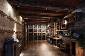 传统中式古董店 棕色木艺置物架3D模型下载 传统中式古董店 棕色木艺置物架3D模型下载