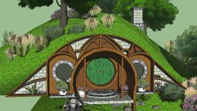 霍比特鉆孔 帳篷 戶外 露營 室外 教堂 SU模型下載 霍比特鉆孔 帳篷 戶外 露營 室外 教堂 SU模型下載