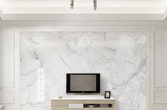 原创现代简约爵士白大理石纹背景墙-版权可商用