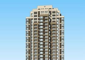 新古典高層住宅SU模型下載 新古典高層住宅SU模型下載