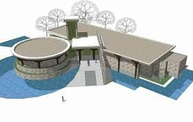 地質公園博物館SU模型下載 地質公園博物館SU模型下載