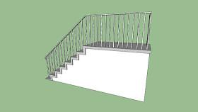 臺階與欄桿 室外 其他 樓梯 樓梯扶手 臺燈 SU模型下載 臺階與欄桿 室外 其他 樓梯 樓梯扶手 臺燈 SU模型下載