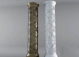 中式雕花柱子3D模型下载 中式雕花柱子3D模型下载