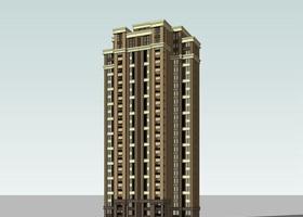 新古典風格高層住宅SU模型下載 新古典風格高層住宅SU模型下載
