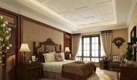 传统美式家居卧室 传统美式长方形木艺床头柜 铜艺墙饰挂件 传统美式双人床3D模型下载 传统美式家居卧室 传统美式长方形木艺床头柜 铜艺墙饰挂件 传统美式双人床3D模型下载