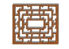 中式雕花隔断屏风SU模型下载 中式雕花隔断屏风SU模型下载