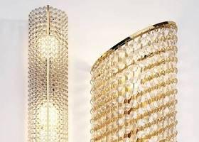 现代水晶壁灯组合3D模型下载 现代水晶壁灯组合3D模型下载