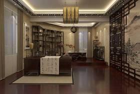 新中式家居书房 新中式棕色木艺书桌椅组合 新中式米色羊皮吊灯3D模型下载 新中式家居书房 新中式棕色木艺书桌椅组合 新中式米色羊皮吊灯3D模型下载