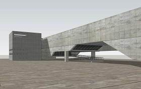 維多利亞碼頭藝術博物館SU模型下載 維多利亞碼頭藝術博物館SU模型下載