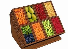 超市果蔬貨架su模型下載 超市果蔬貨架su模型下載