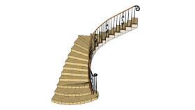 樓梯 樓梯 排簫 樓梯扶手 螺旋形 SU模型下載 樓梯 樓梯 排簫 樓梯扶手 螺旋形 SU模型下載