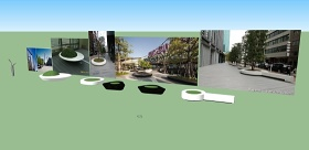 商业街树池小品SU模型下载 商业街树池小品SU模型下载