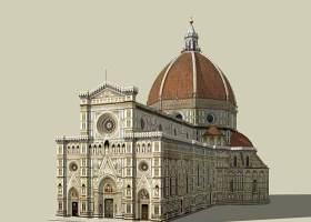 歐式教堂SU模型下載 歐式教堂SU模型下載