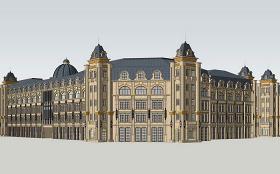 法式商業建筑SU模型下載 法式商業建筑SU模型下載