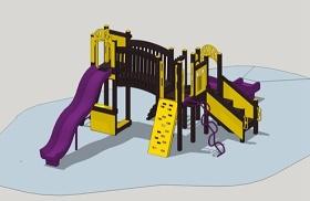 兒童滑滑梯su模型下載 兒童滑滑梯su模型下載