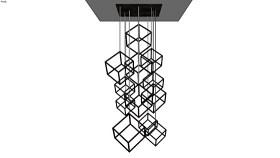 突出雕塑的立方体 绳索 室外 台灯 椅子 起重机 SU模型下载 突出雕塑的立方体 绳索 室外 台灯 椅子 起重机 SU模型下载