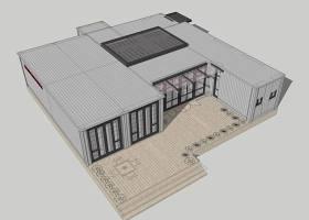 集裝箱建筑SU模型下載 集裝箱建筑SU模型下載