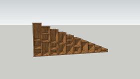 書架樓梯 排簫 樓梯 木板 書 其他 SU模型下載 書架樓梯 排簫 樓梯 木板 書 其他 SU模型下載