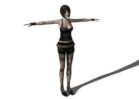 3D休闲女人物SU模型下载 3D休闲女人物SU模型下载