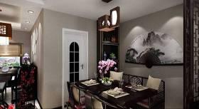 新中式家居餐厅 新中式木艺吊灯 新中式黑色木艺餐桌椅组合 新中式家居客厅3D模型下载 新中式家居餐厅 新中式木艺吊灯 新中式黑色木艺餐桌椅组合 新中式家居客厅3D模型下载