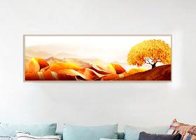 新中式山水山意境风景客厅装饰画图片