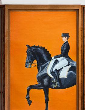 原创高清巨幅欧式皇家马术油画艺术玄关-版权可商用