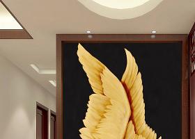 原创手绘油画翅膀人体艺术玄关装饰画-版权可商用