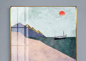 原创现代北欧小清新抽象风景装饰画-版权可商用