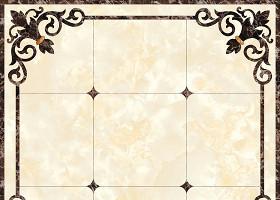 欧式大理石纹客厅地面拼花图图片
