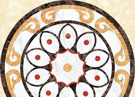 新中式水刀瓷砖地板拼花图案图片