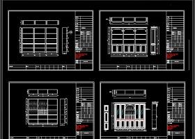 欧式酒柜书柜衣柜CAD图库