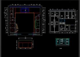 全屋定制板式家居标准柜体CAD图库