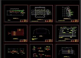 大学体育馆舞台音箱舞台灯光器材CAD图库