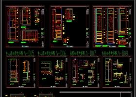 全套整体衣柜CAD图库展厅方案