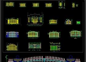 大门装修CAD施工设计图