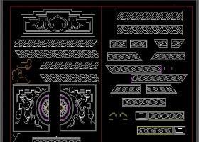 原創2019中式雕花素材CAD圖庫