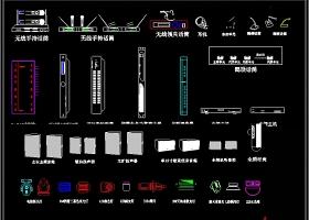 会议音响灯光器材CAD