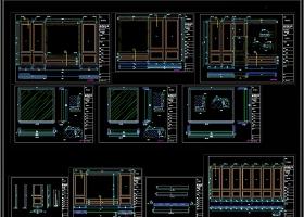 品牌楼梯几个专卖店展厅深化CAD图