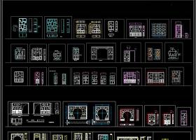 中式博古架博古柜装饰柜CAD图库