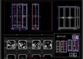 原创如意中式大衣柜CAD图库