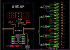 网络监控系统图模板CAD弱电智能化